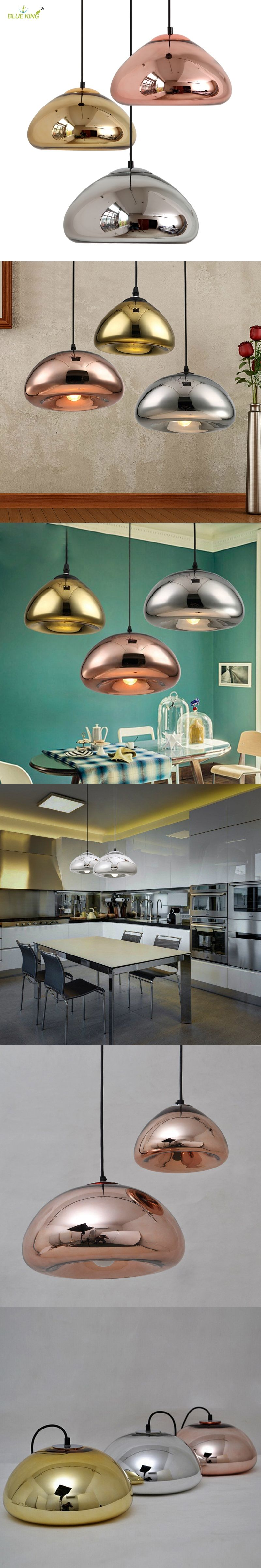 Modern Bowl Mirror L&s Glass LED Pendant Light Void L& Colored Glass Hanging L&s For Cafe & Modern Bowl Mirror Lamps Glass LED Pendant Light Void Lamp Colored ...