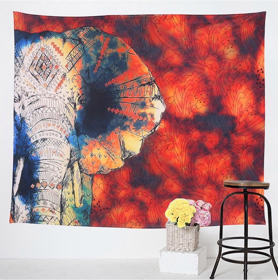 Elephant Tapestry Home Improvement Spiritual Hanging Mandala Yoga Spot Decor Bed Cover Home Decor