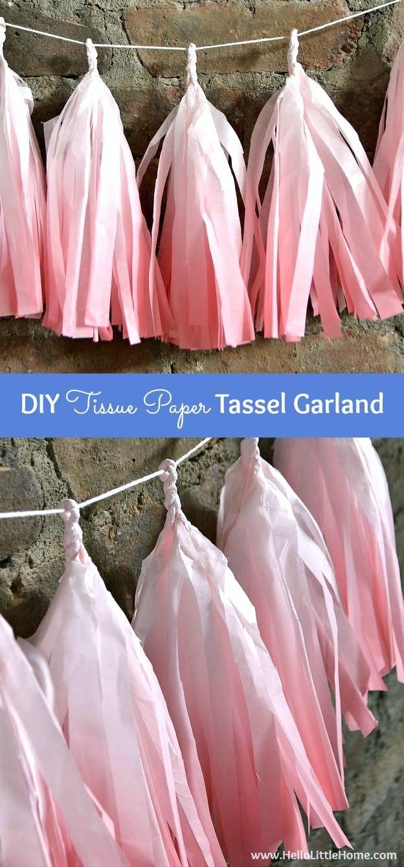 Diy Tissue Paper Tassel Garland Easy Party Decorating Ideas
