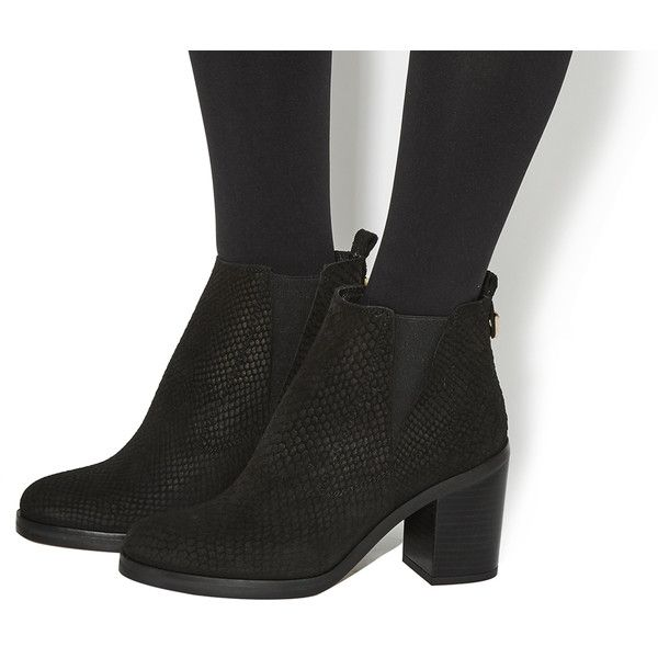 34de7919c21 Office Illusion Block Heel Chelsea Boots ( 130) ❤ liked on Polyvore  featuring shoes