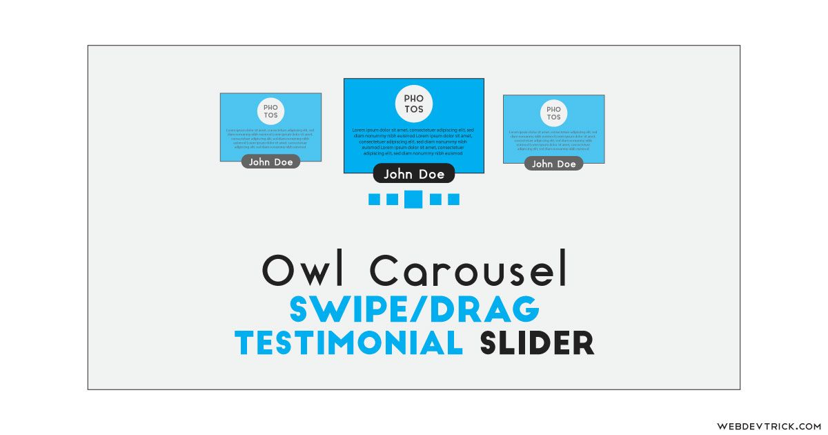 Swipe Testimonial Slider With Owl Carousel | JS Library Based Slider
