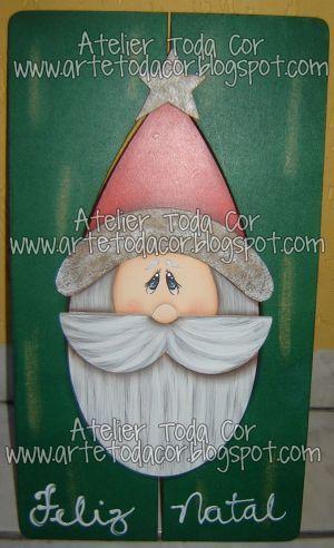 Placa Moldura - Papai Noel | Pintei hoje essa placa moldura … | Flickr