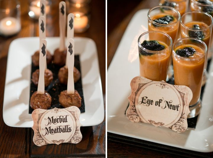 Sophisticated Halloween Dinner Party.Elegant Halloween Inspired Engagement Party Ideas A Spooky
