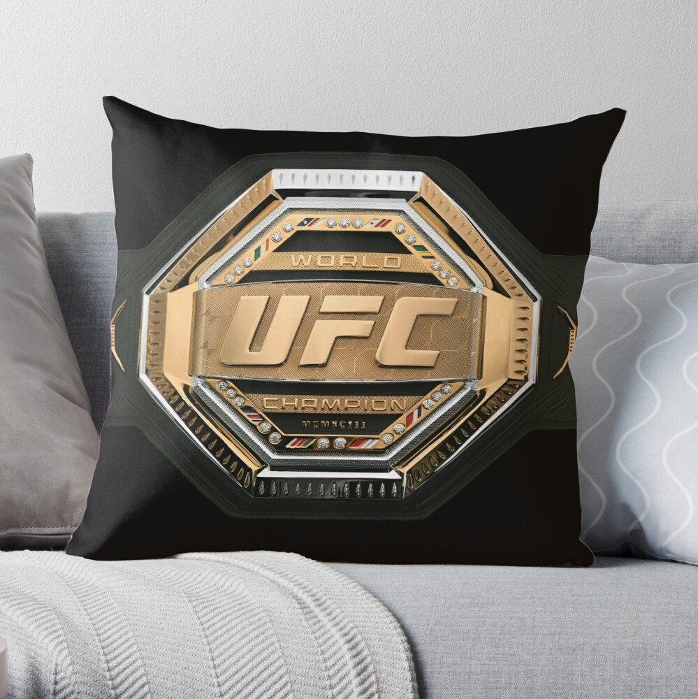 Mixed Martial Arts Fighter Champion Belt Throw Pillow By Under Thetable Martial Arts Mixed Martial Arts Martial