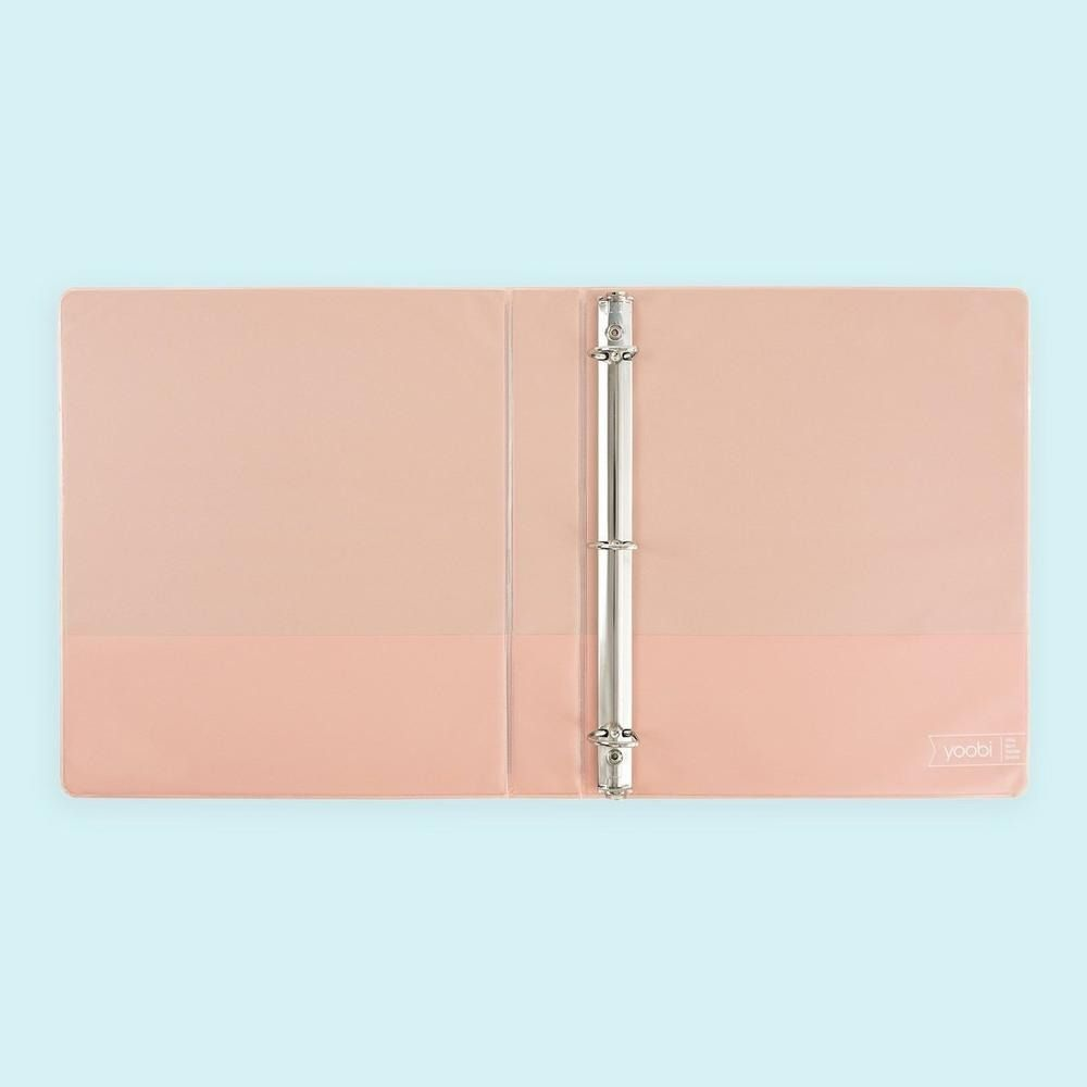 Our Peachy Keen 1-inch Binder Holds Up To 250 Sheets With