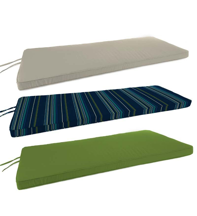 Deluxe Sunbrella Swing Bench Cushion With Ties 53 Quot X 18
