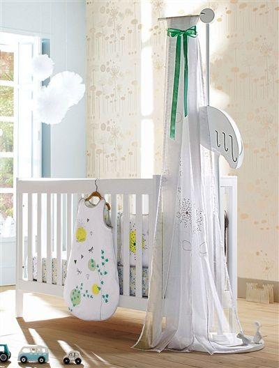 fl che de lit cigogne b b th me conte po tique blanc vertbaudet enfant for my d r baby. Black Bedroom Furniture Sets. Home Design Ideas