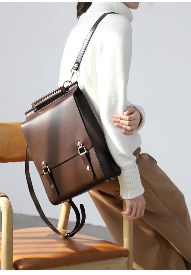 Best Leather Satchel Laptop Backpack Bag