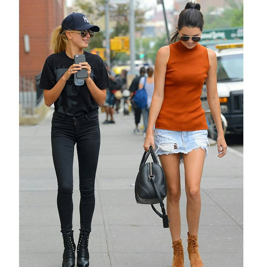"""""""@kendalljenner and @HaileyBaldwin in New York City on Monday. (8/31/15)"""""""