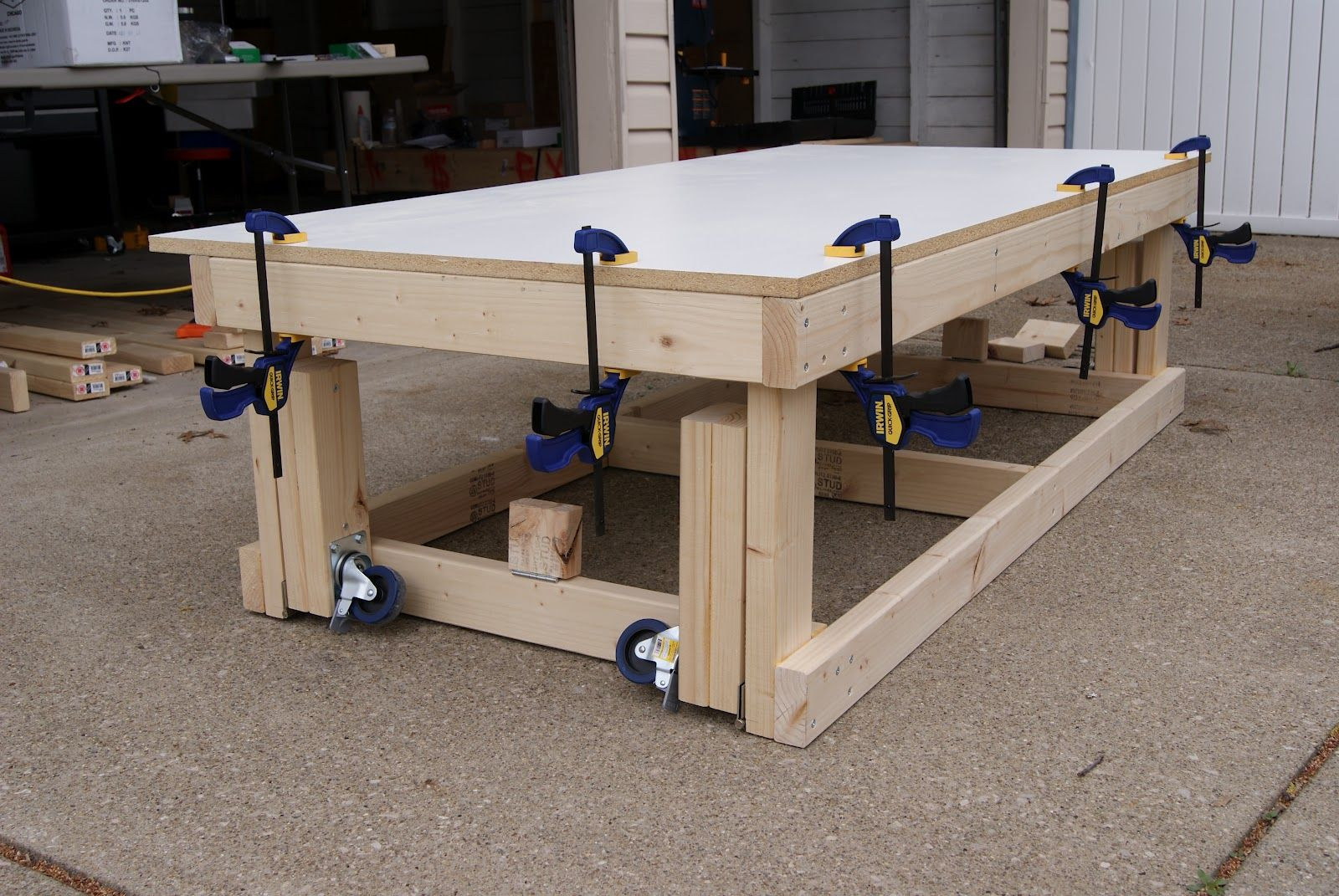 Wooden Work Bench On Wheels Google Search In 2020 Workbench On