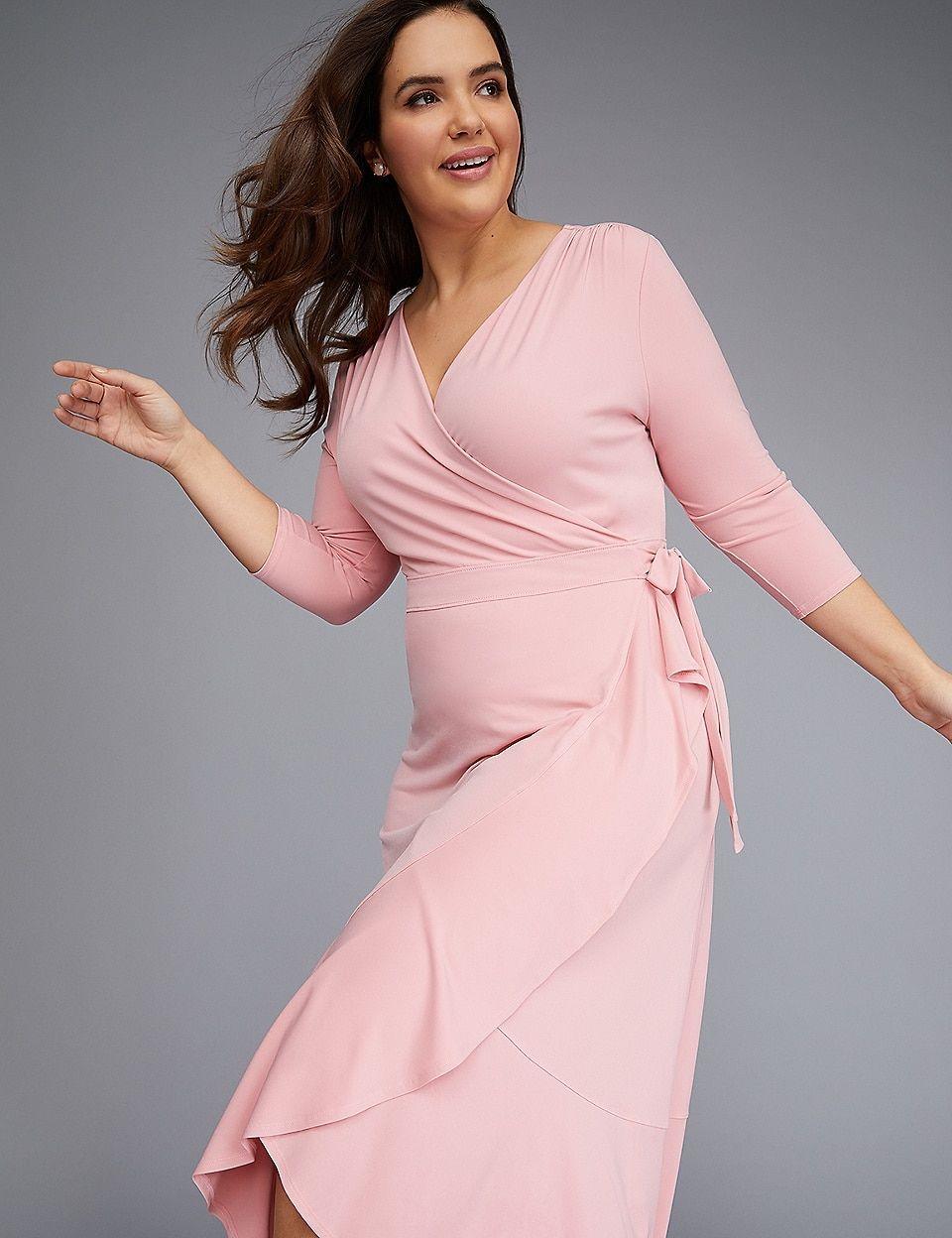 3 4 Sleeve Matte Jersey Wrap Dress Jersey Wrap Dress Wrap Dress Midi Maxi Dress [ 1248 x 960 Pixel ]