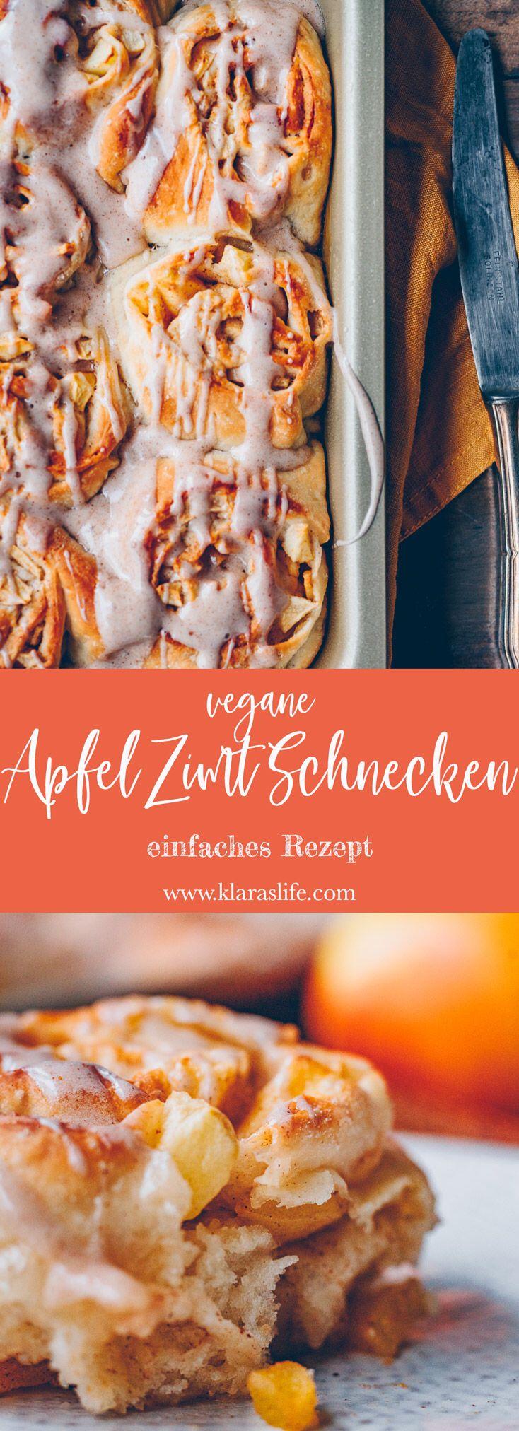 Apfel Zimt Schnecken - Klara`s Life #apfelmuffinsrezepte