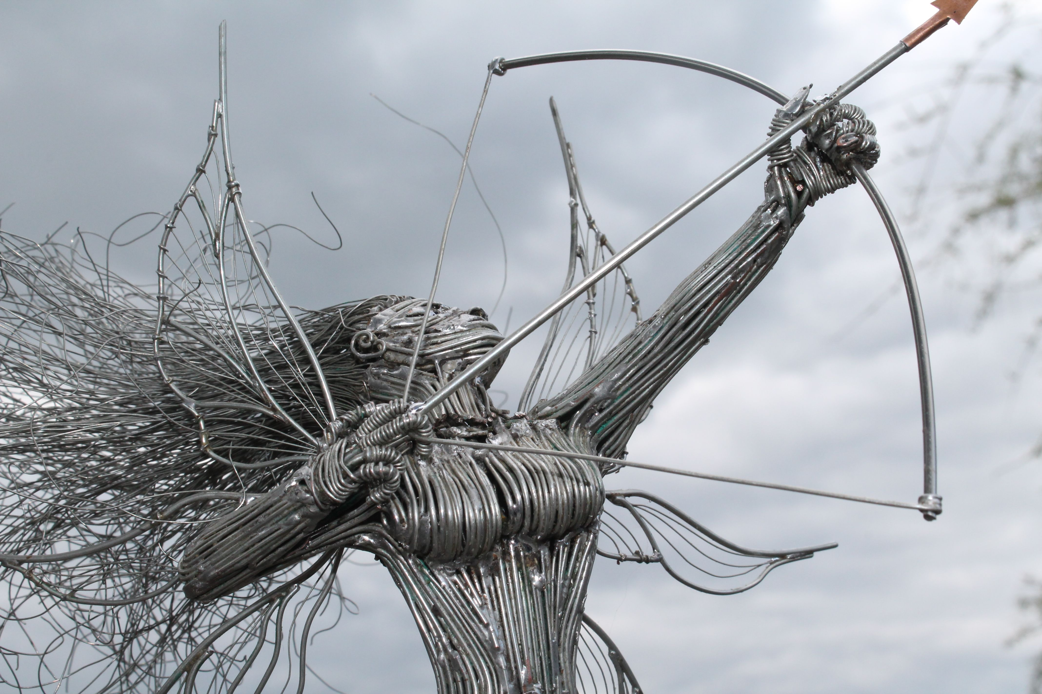 This wire sculpture made by me using tinned copper wire which i ...