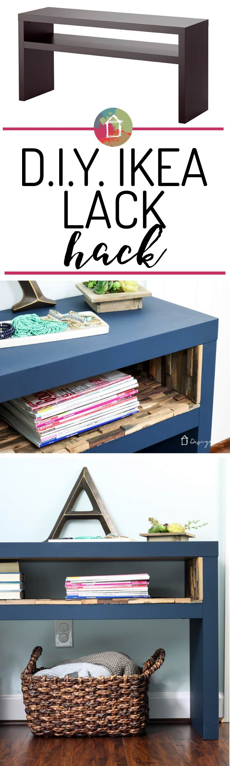 Ikea Lack Hack - A high-end look on a dime!   Decoracion rustica ...
