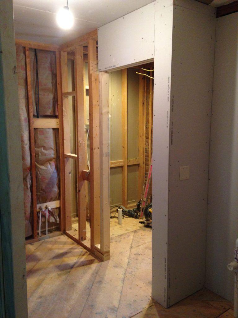 Bathroom Remodel Complete Overhaul Drywall Installation
