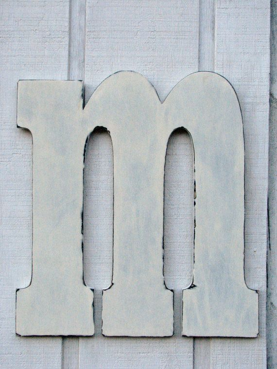 Guest Book Large Wooden Letters M Lowercase By Borlovanwoodworks