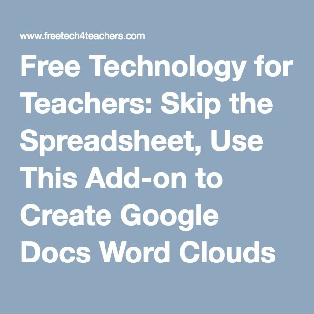 Skip the Spreadsheet, Use This Add-on to Create Google Docs Word - spreadsheet