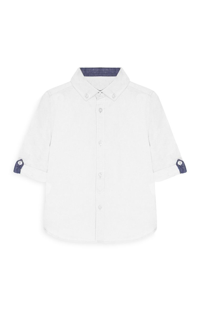 f9b15de7b Primark - Camisa Oxford blanca para bebé niño