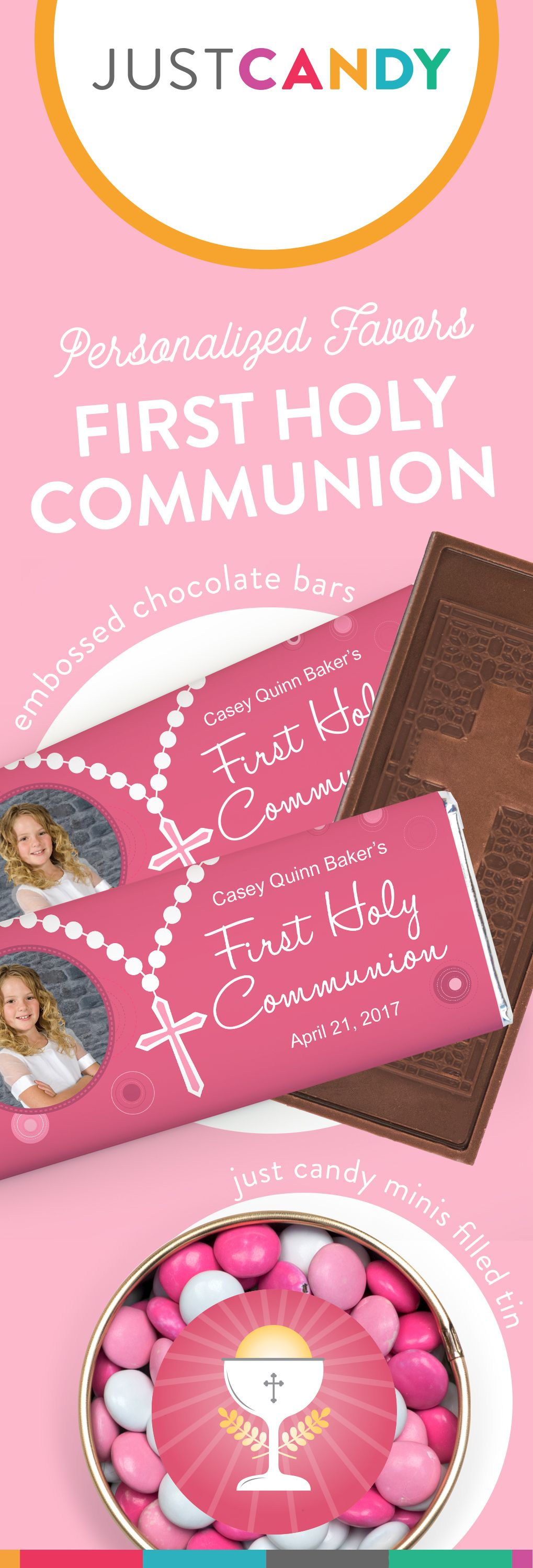 Girls First munion Party Favors Personalized Candy & Gifts