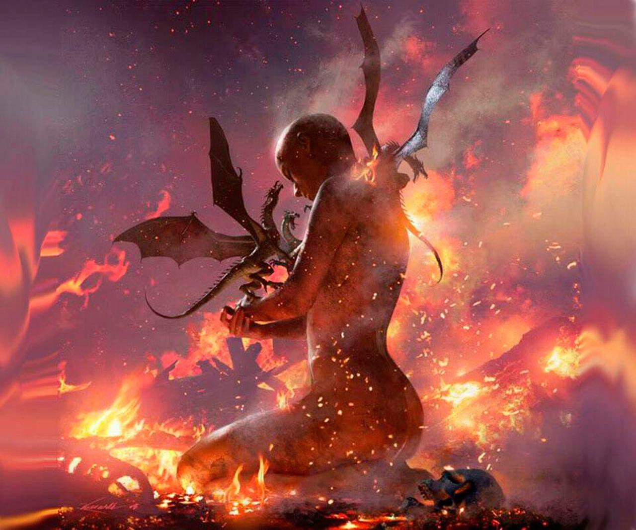 Resultado de imagem para daenerys unburnt