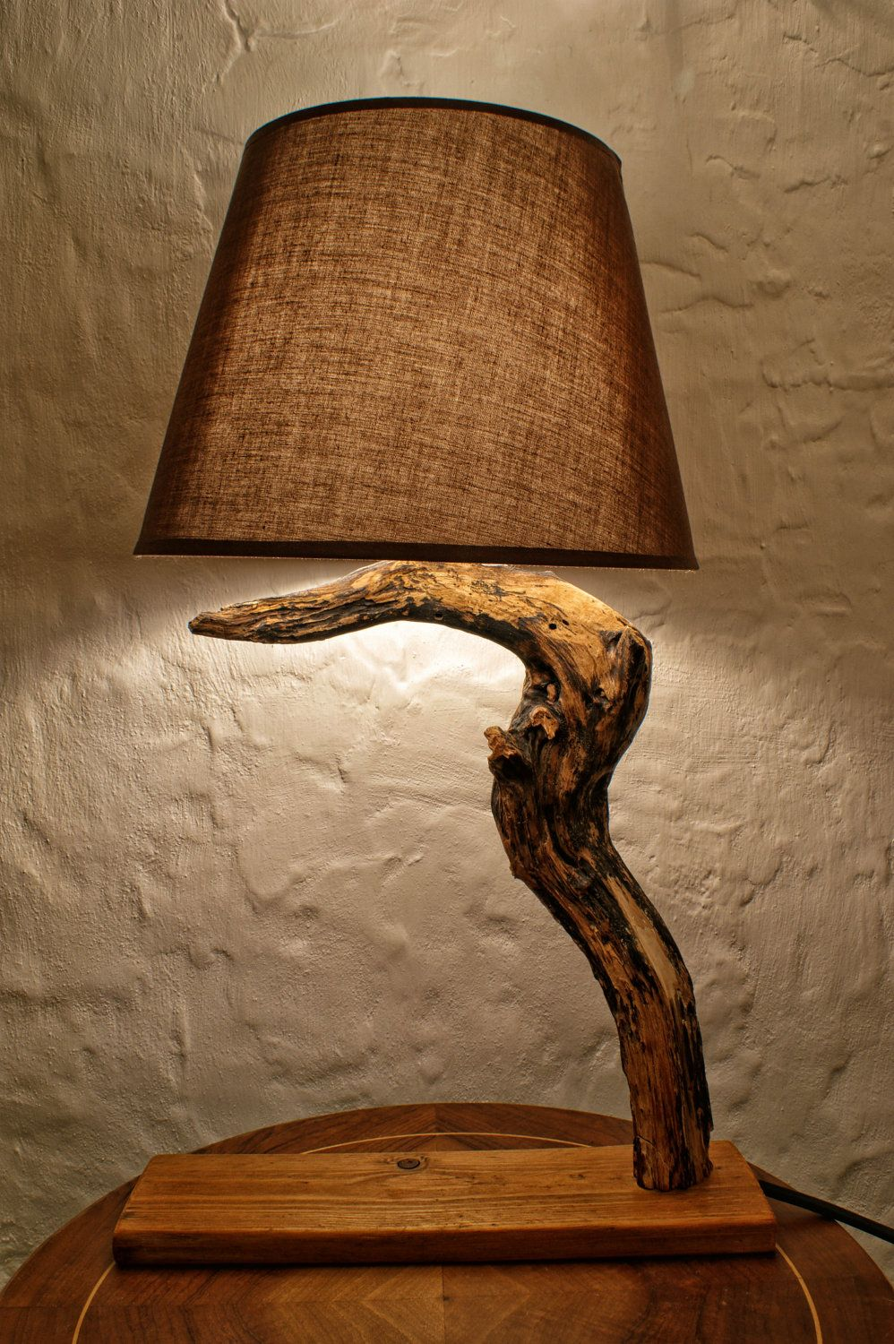 lights lamps wood handcrafted desk id lamp oblic table