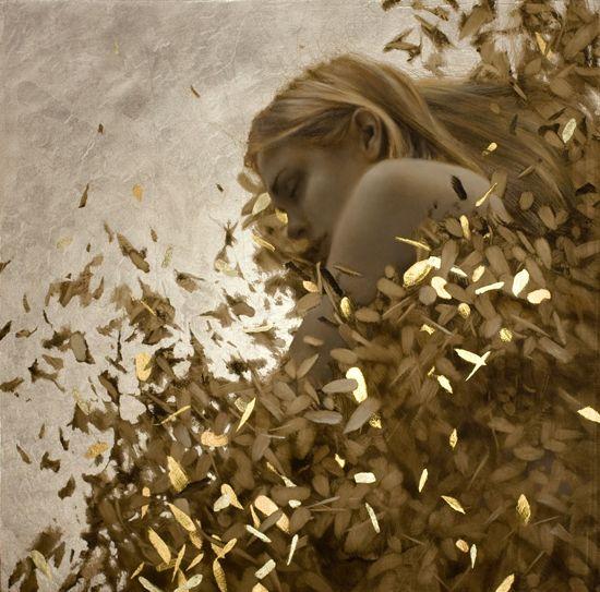 Third Sleep by Brad Kunkle 이게 은박지를 붙여서 그린겨. 사람쪽만 뜯어내고.