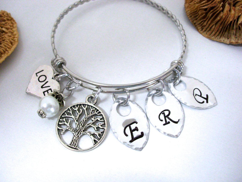 Family Tree Bracelet Personalized Jewelry Grandma Gift