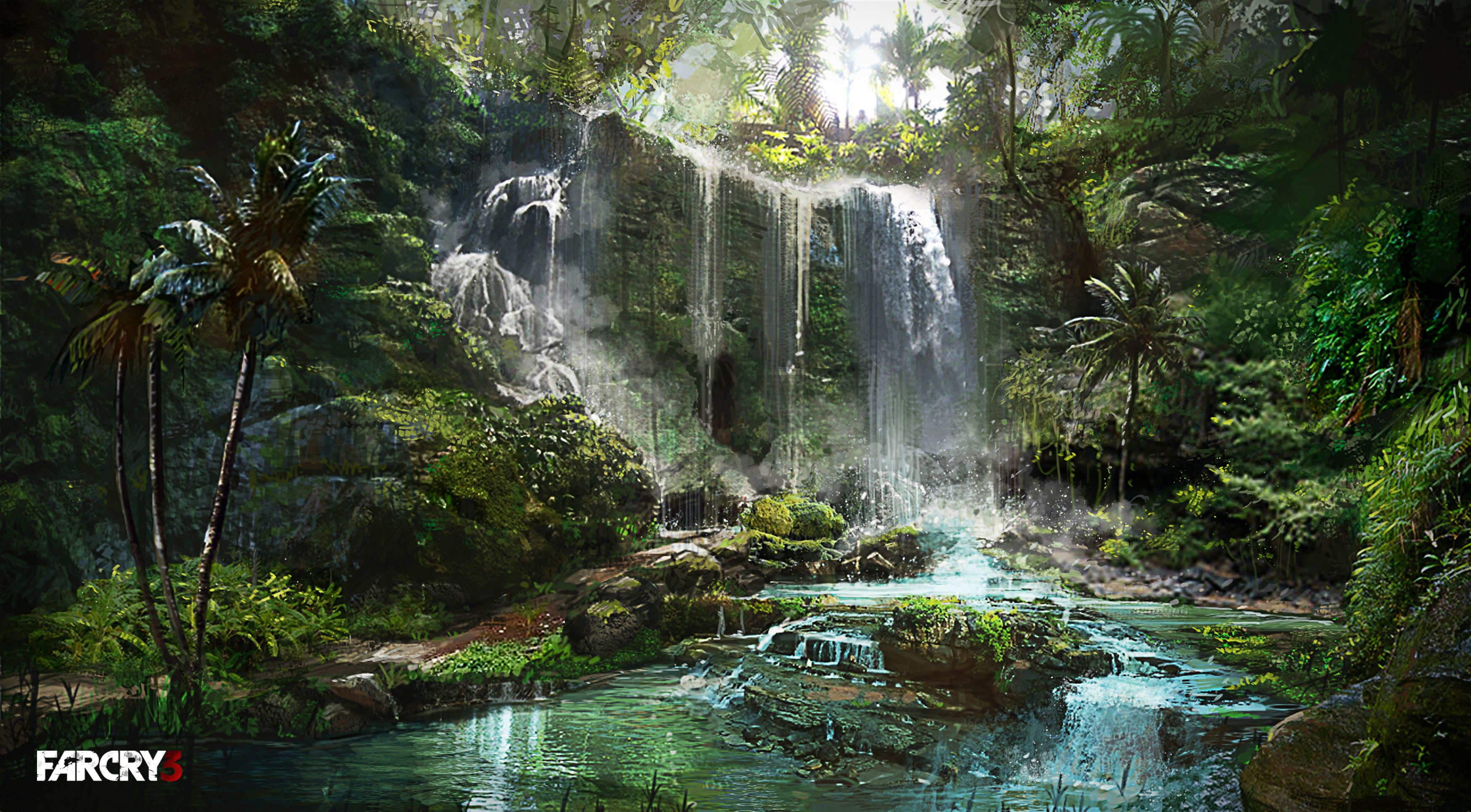 Concept waterfall spces pinterest concept art for Waterfall environment