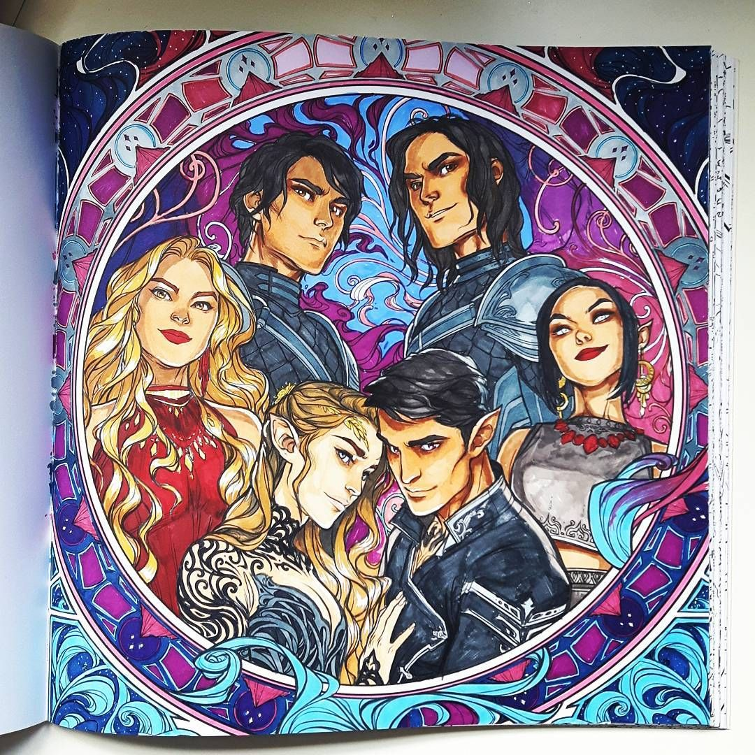 New Obsession Colouring Acotar Acotarcolouringbook A Court