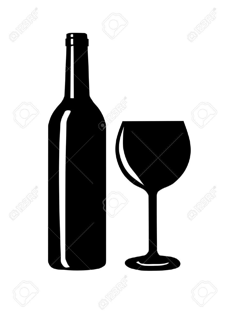 Wine Bottle Wine Bottle And Glass Silhouette Vector Illustration Wine Bottle Illustration Wine Bottle Bottle