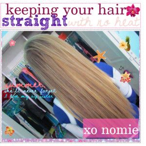 Keeping your hair straight with no heat.