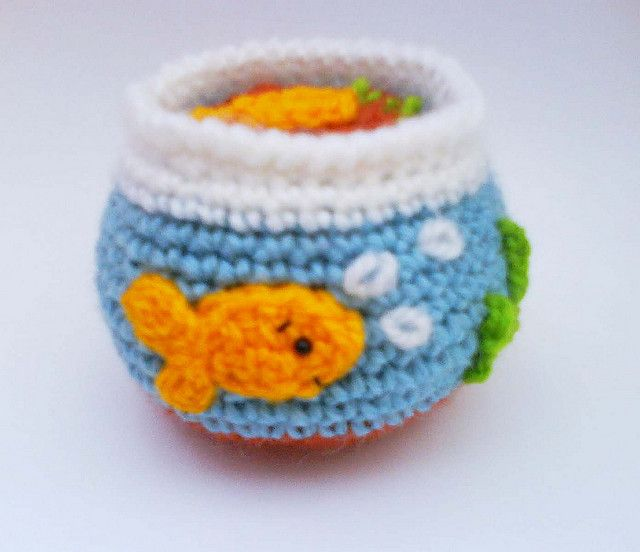 Goldfish Tank Crochet no Pattern | Crochet- Amigurumis | Pinterest