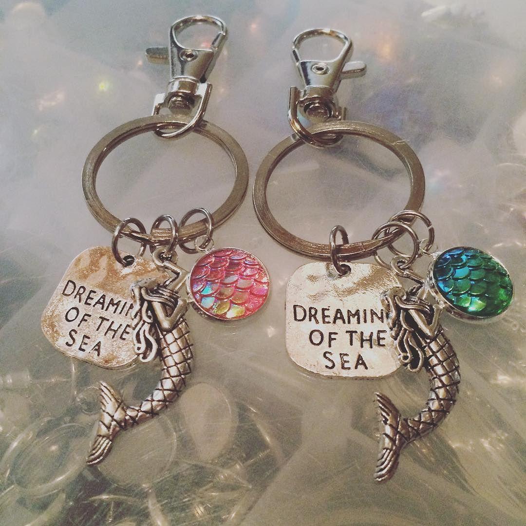 Dreaming of the Sea Mermaid Keychains. #mermaidlife
