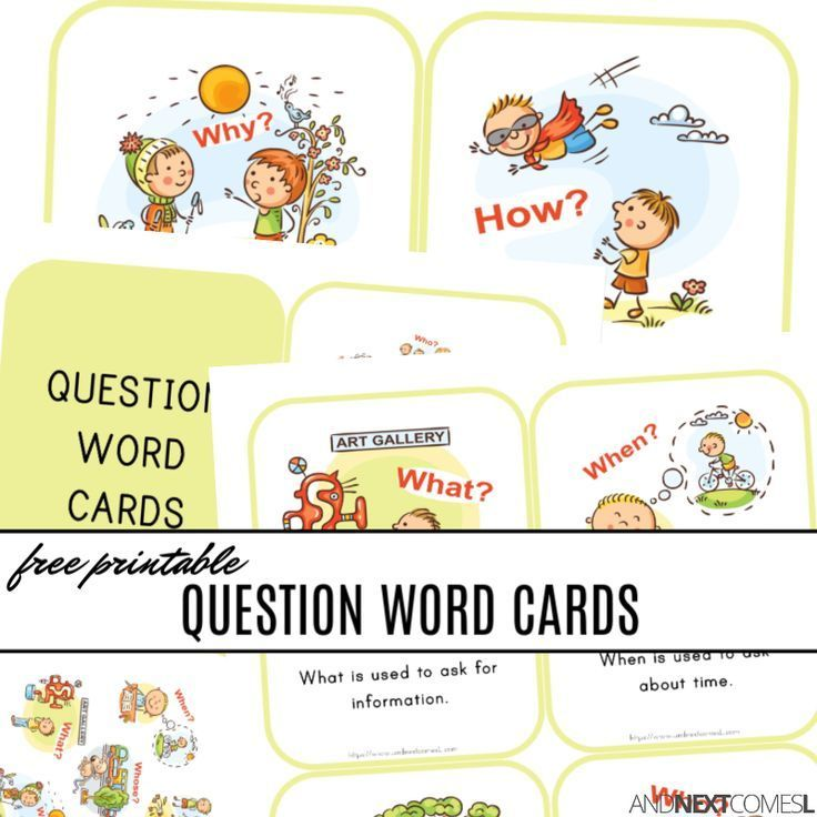 Free Printable Wh Question Word Cards Word Cards Wh Questions Question Cards Wh questions for preschoolers worksheets