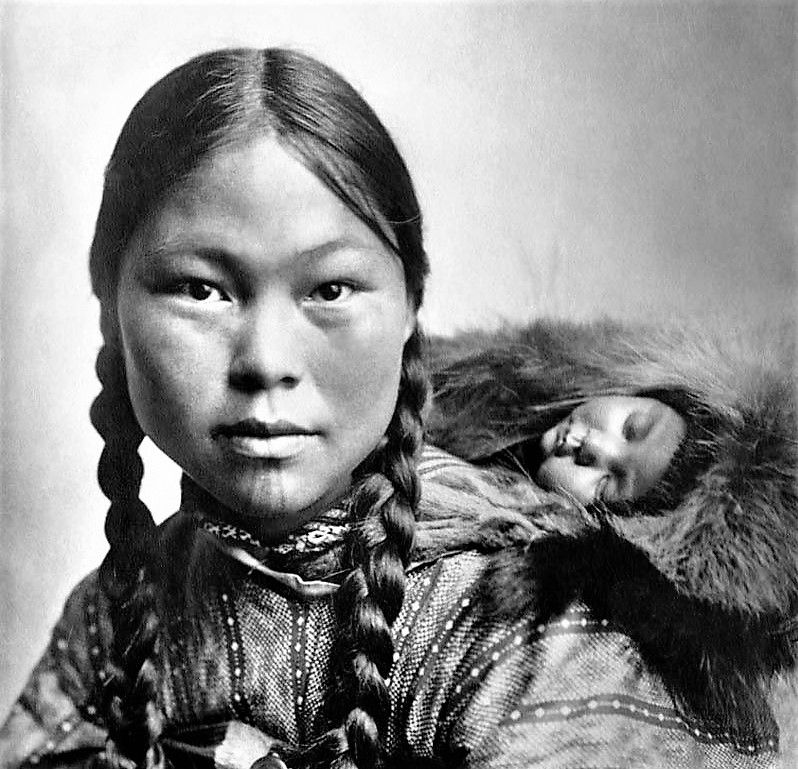 Inuit mother and child (Alaska) by photographer Albert J