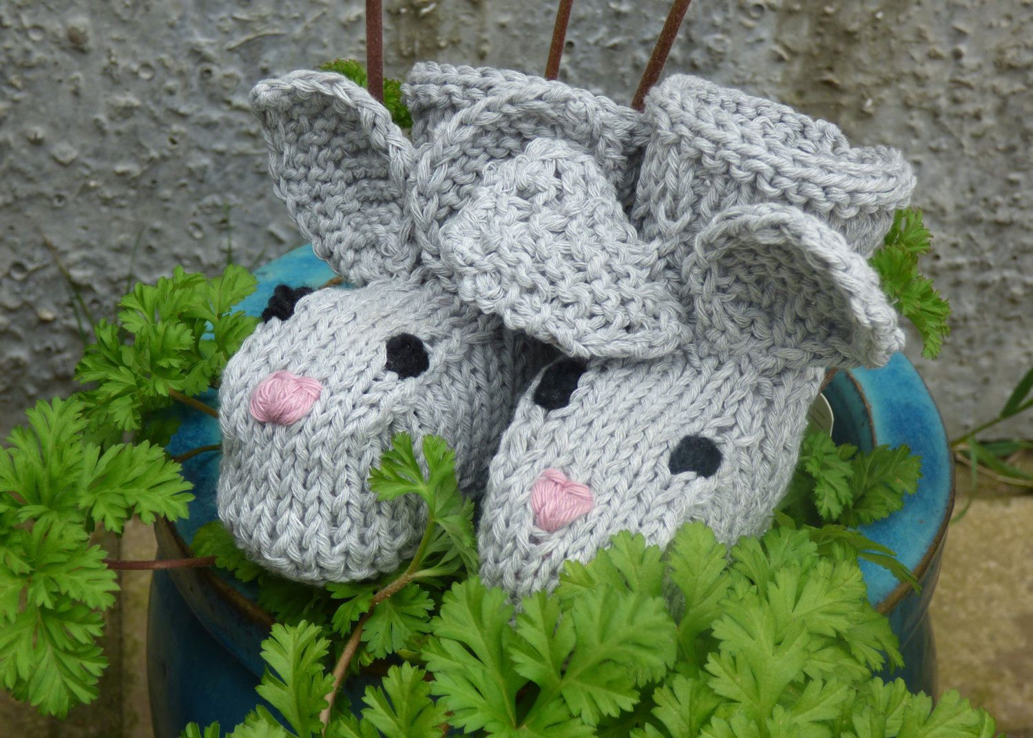 Baby easter knitting pattern baby bunny booties 2 sizes newborn baby easter knitting pattern baby bunny booties 2 sizes newborn 12 mths negle Image collections