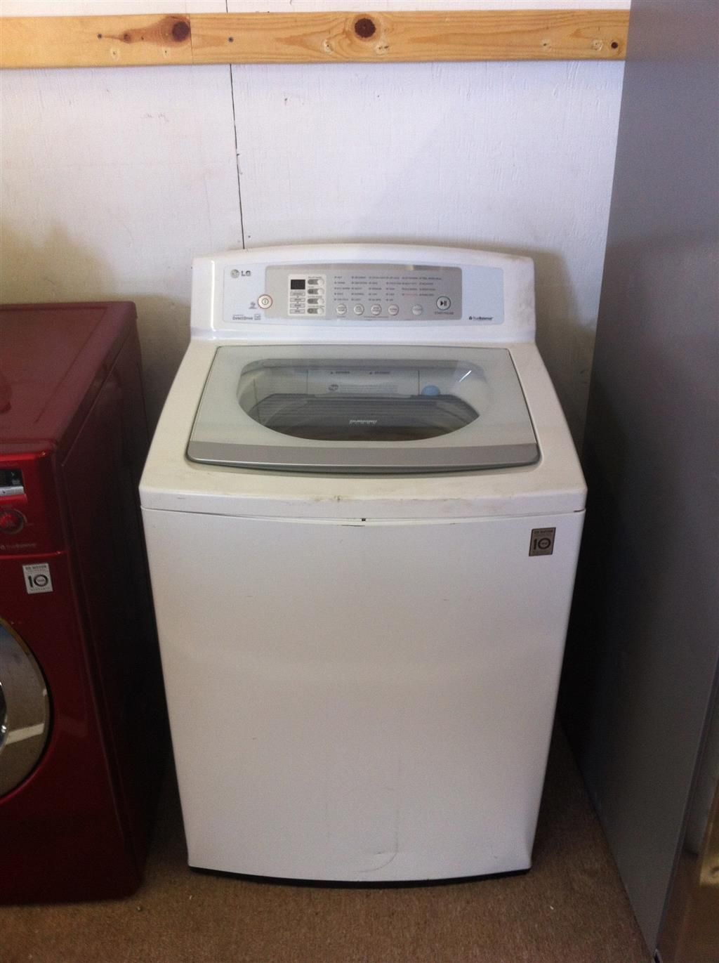 New LG White 3.7 cu. ft. Large Capacity High Efficiency Top Load Washer