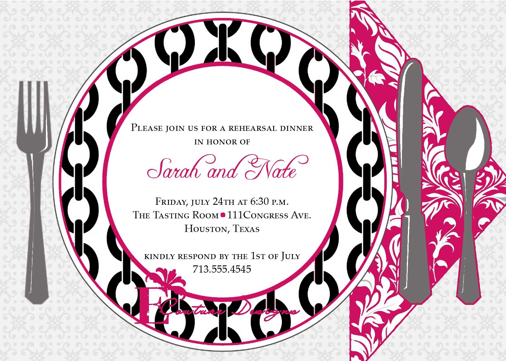 Dinner Invitation Template Invitation Templates Flowers