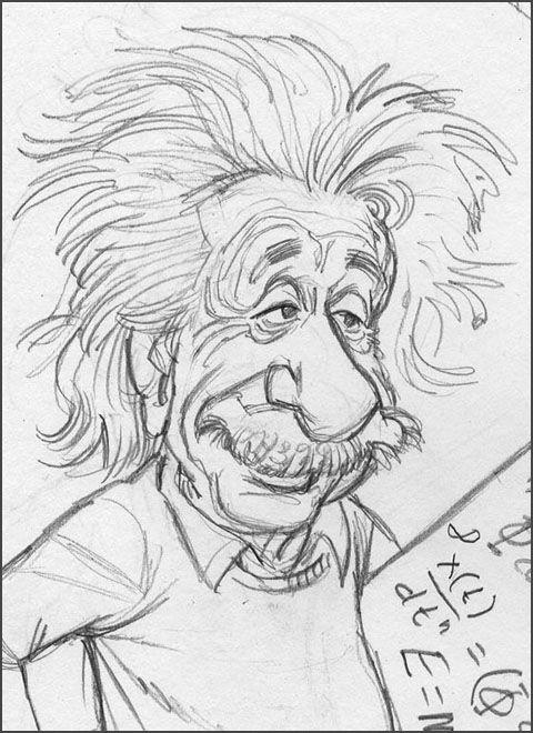 How to Draw Cartoon Caricatures | Albert Einstein | Tom's MAD Blog!