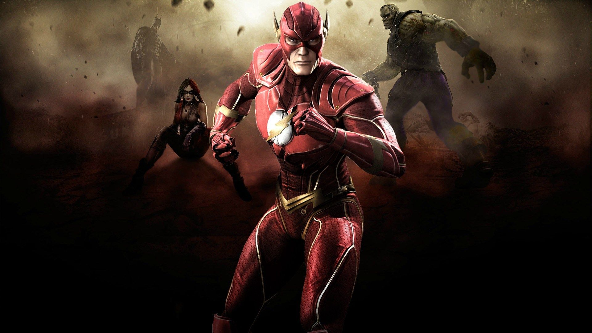 Injustice Gods Among Us Wallpaper Full Hd Backgrounds 282 Kb Jodari Macdonald Flash Wallpaper Flash Comics Flash Dc Comics