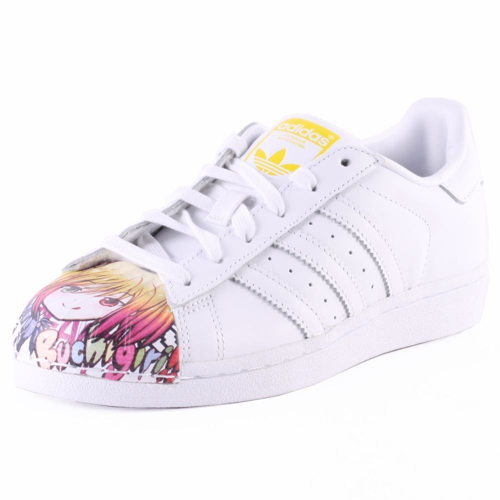 adidas Superstar Pharrell Williams Mens Trainers in White Multicolour