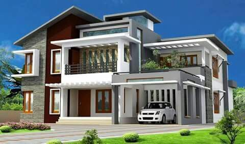 Modern residential house. Architecture & desing