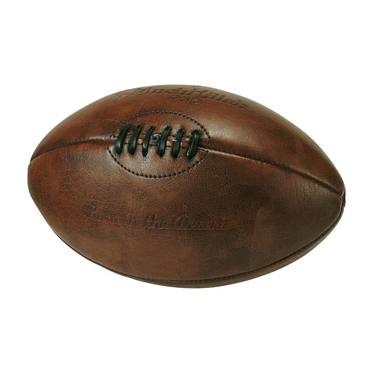 Via MAISONS DU MONDE Pallone Da Rugby Vintage