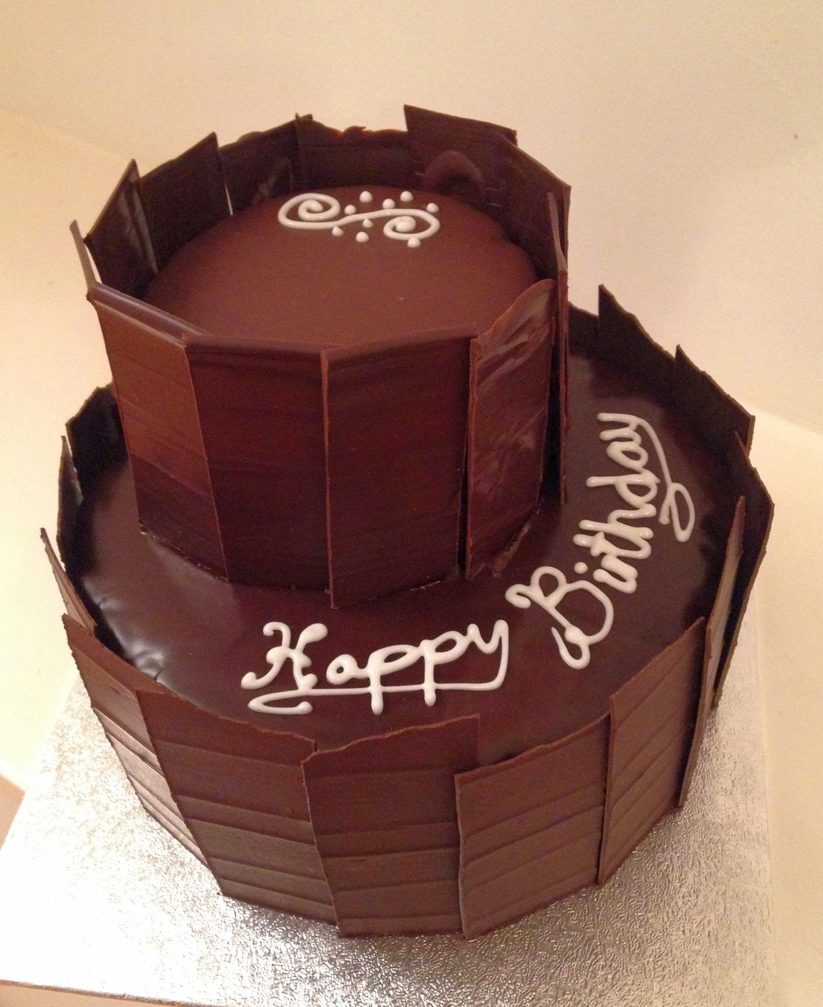 2 Tier Sacher Torte - Birthday cake | Baking Moments