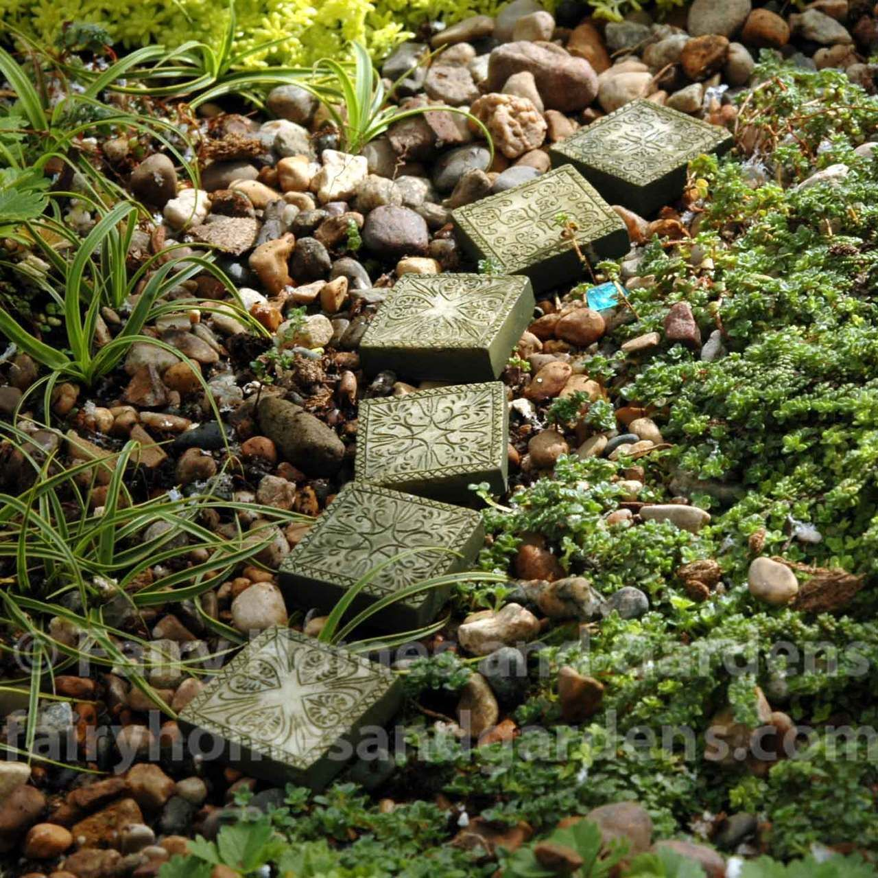 Ancient Stepping Stones set of 6   Miniature gardens, Gardens and ...