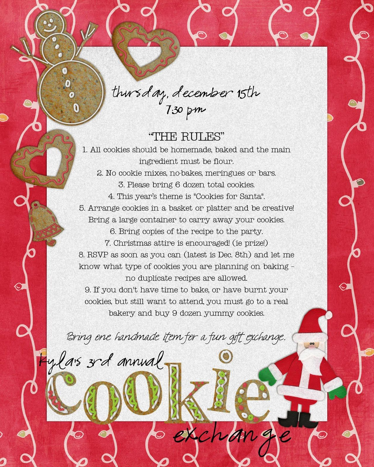 How to Host a Cookie Swap, - Who wants to come to my house and ...
