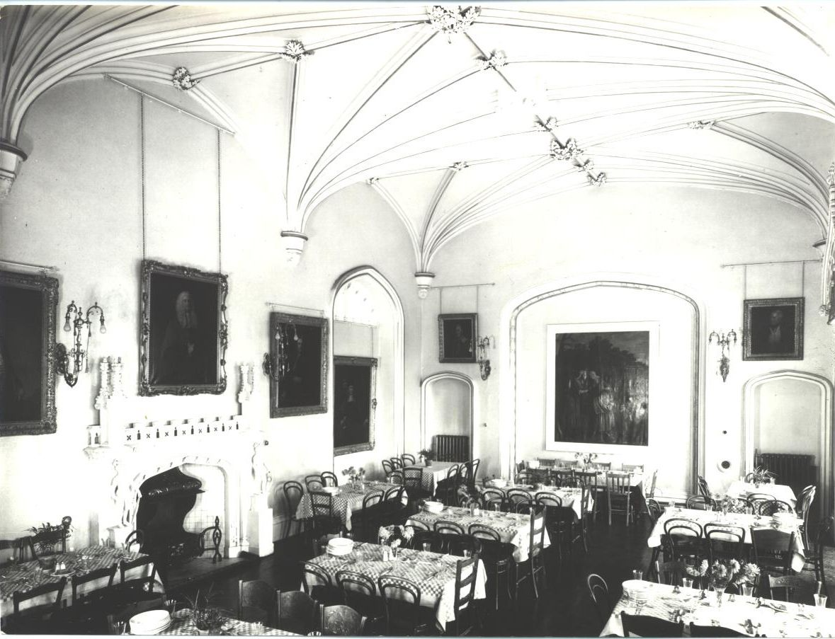 Lowther College Dining Room, now our Sculpture Gallery housing John Gibson busts  and other significant statues.