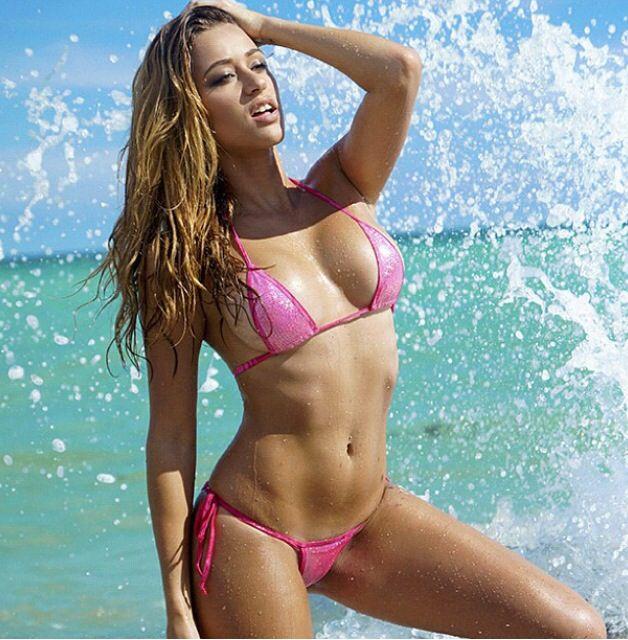 0d1617aae25 Cindy Prado - Fitness - Sexy Puckered Back Bikini - Scrunch Back Sexy Bikini  - Scrunch