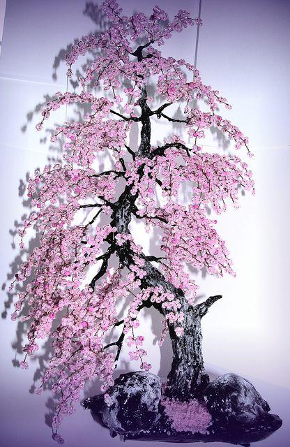 Bonsai Beaded Tree Home Decor Sakura Cherry Blossom Bonsai Tree Bonsai Tree Bonsai Art