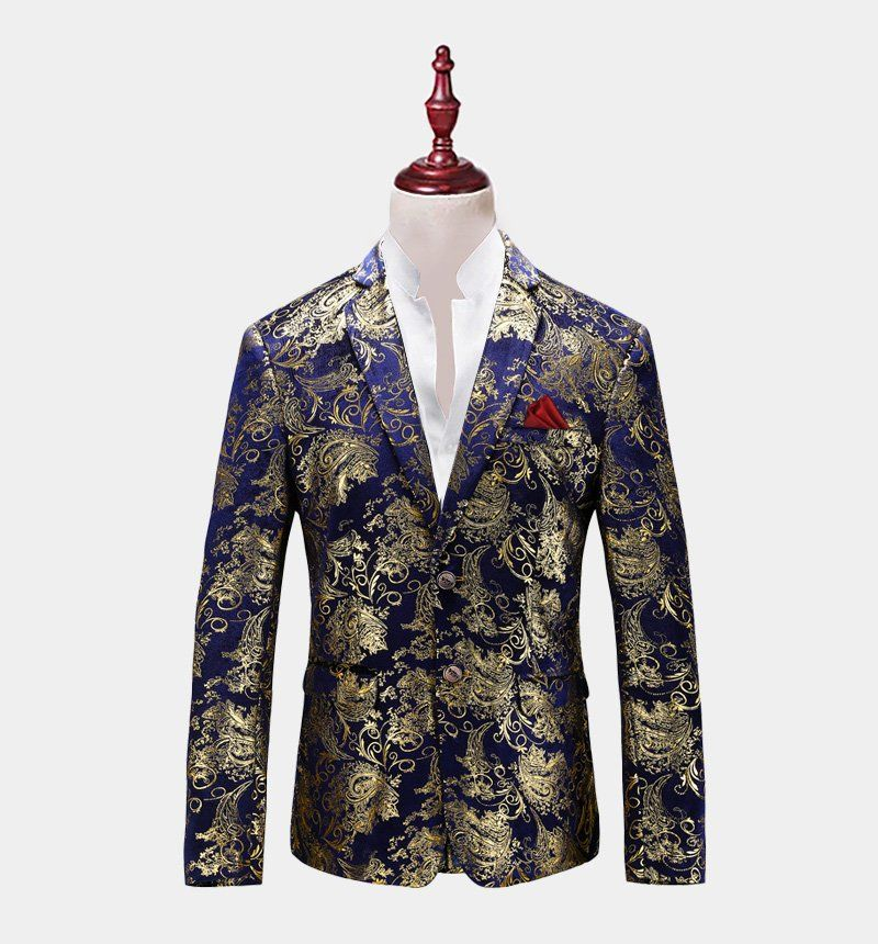 Suits & Blazers Learned Paisley Floral Sequins Blazer Men Shawl Collar Shiny Glitter Mens Gold Suits Stage Blazers Singer Costumers Party Jackets Hombre A Great Variety Of Models